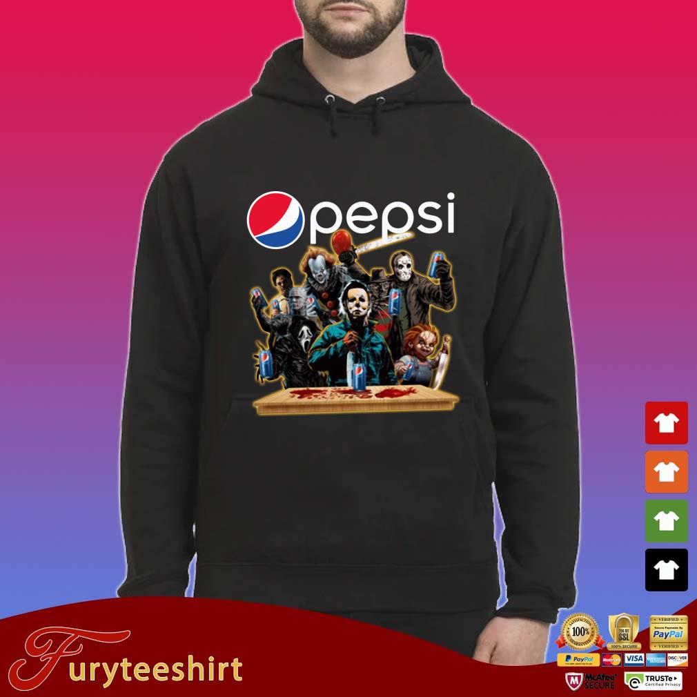 Horror Characters Drinking Pepsi Halloween Shirt