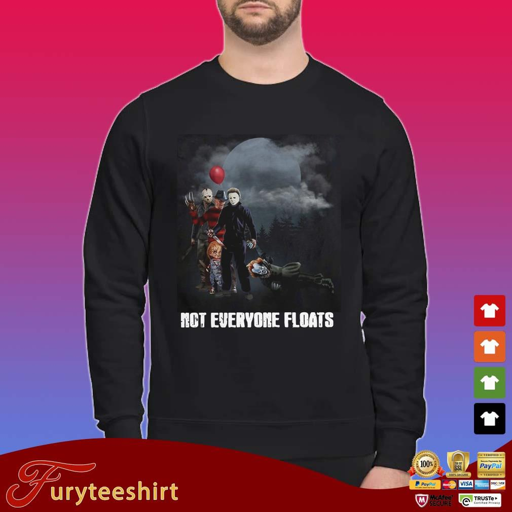 Horror Characters VS Pennywise not everyone floats shirt