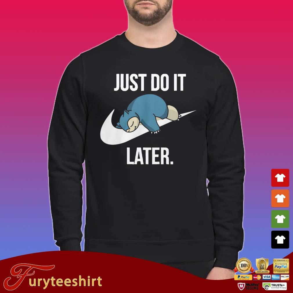 Pokemon Snorlax Just Do It Nike Shirt