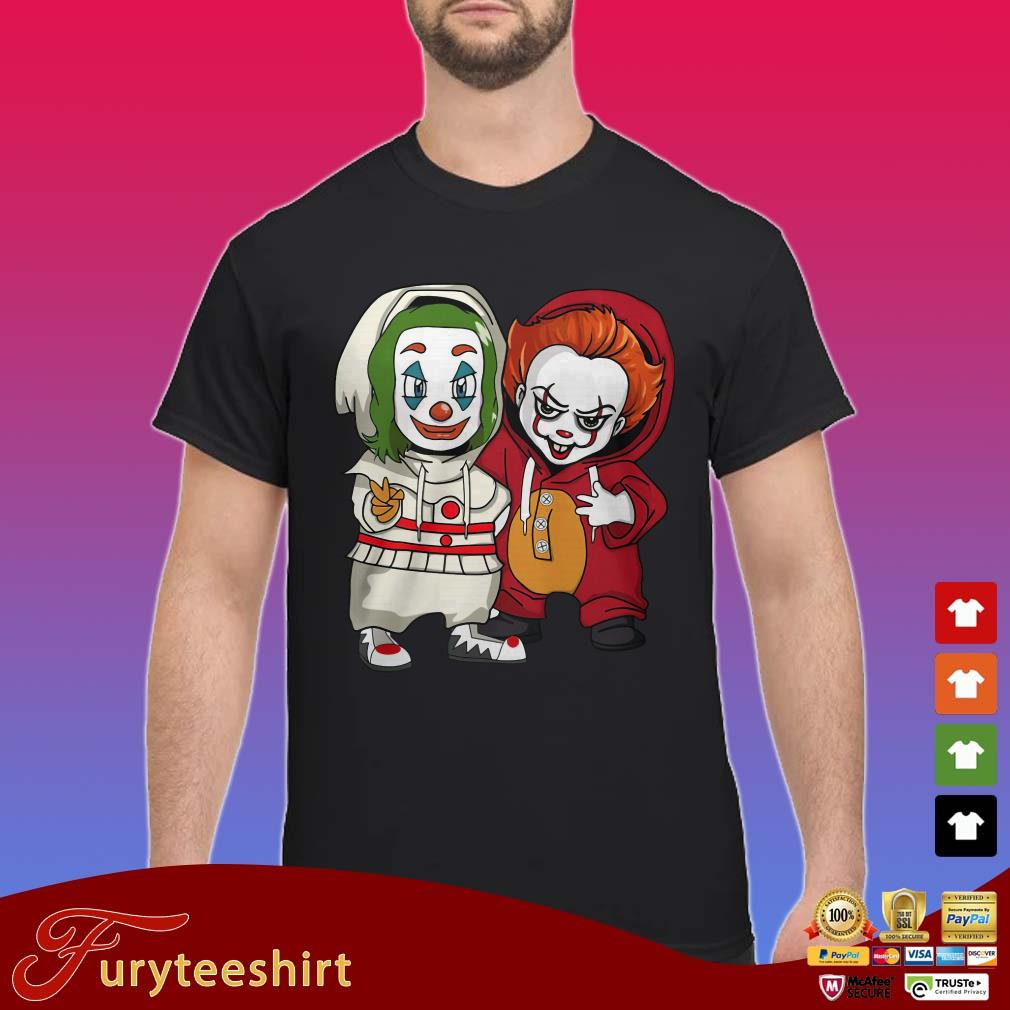Baby Joker and Pennywise friends shirt