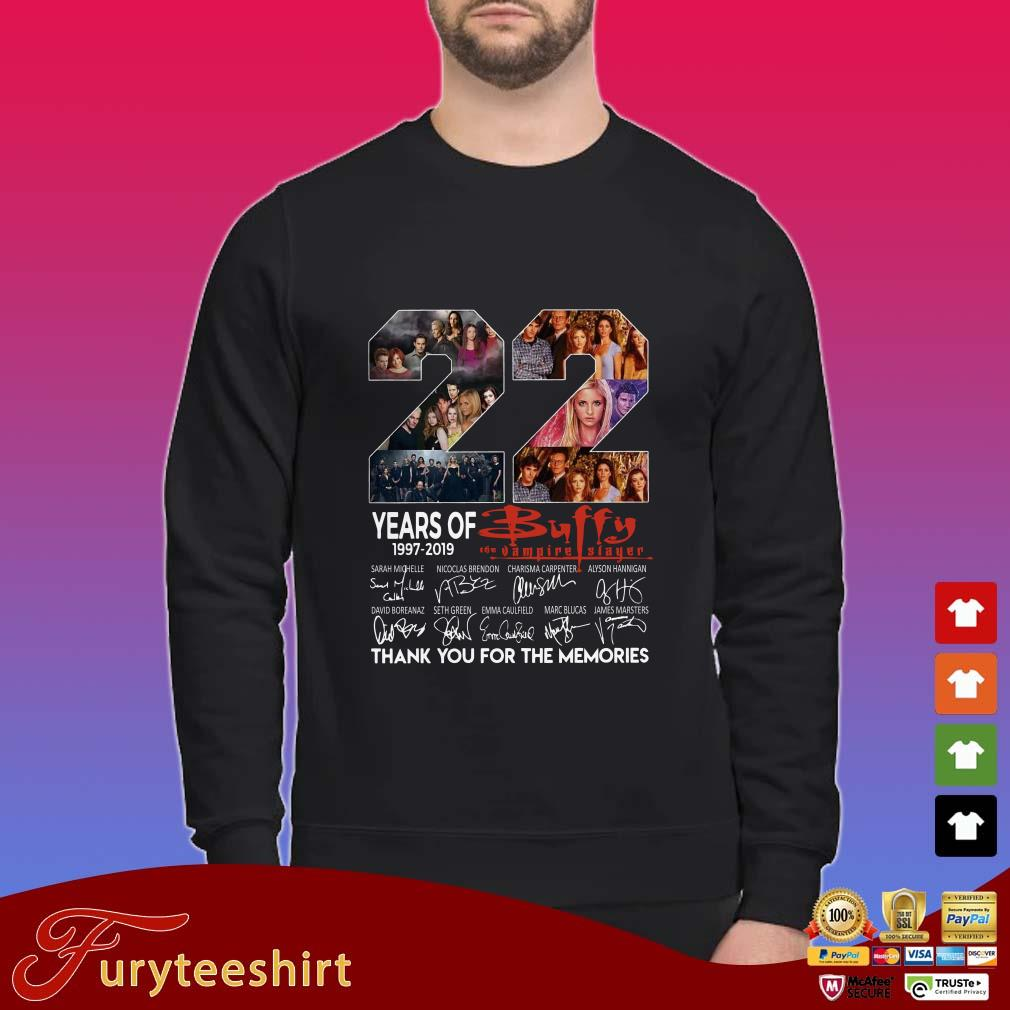 22 years of Buffy the Vampire Slayer 1997 2019 thank you for the memories shirt