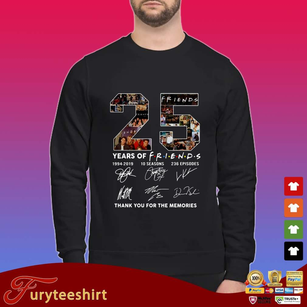 25 Years Of Friends Thank You For The Memories Signatures Shirt