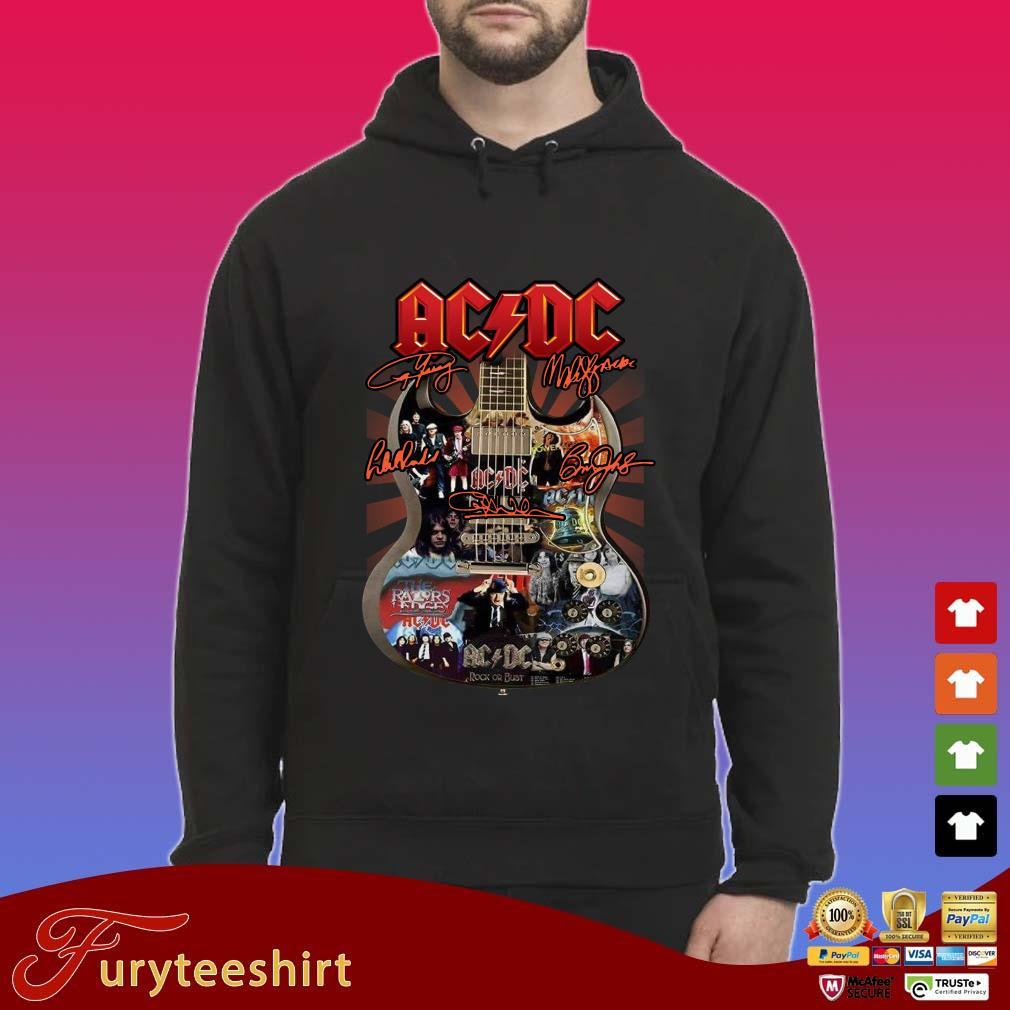 AC DC Guitar all signatures shirt
