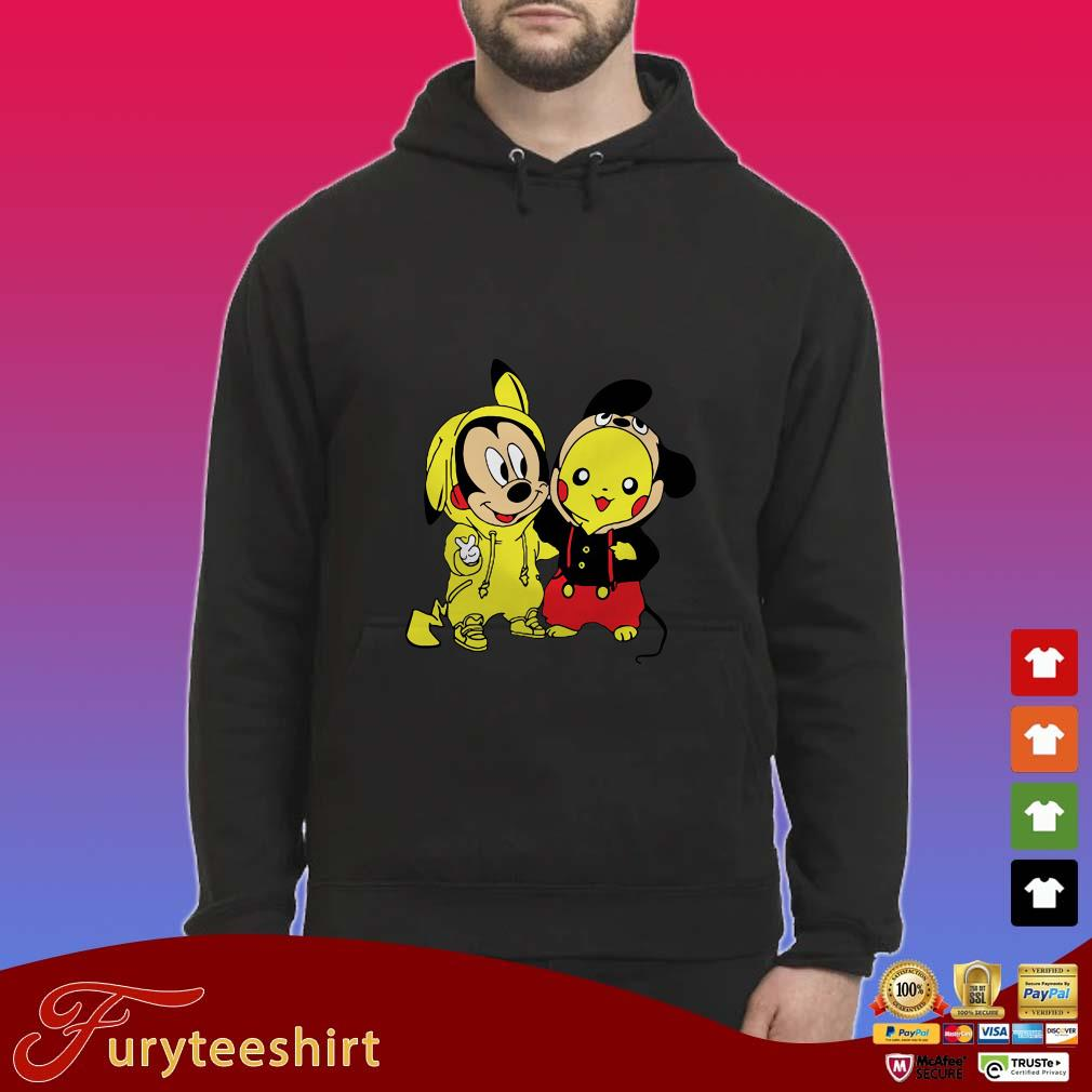 Baby Mickey Mouse And Pikachu Crossover Shirt