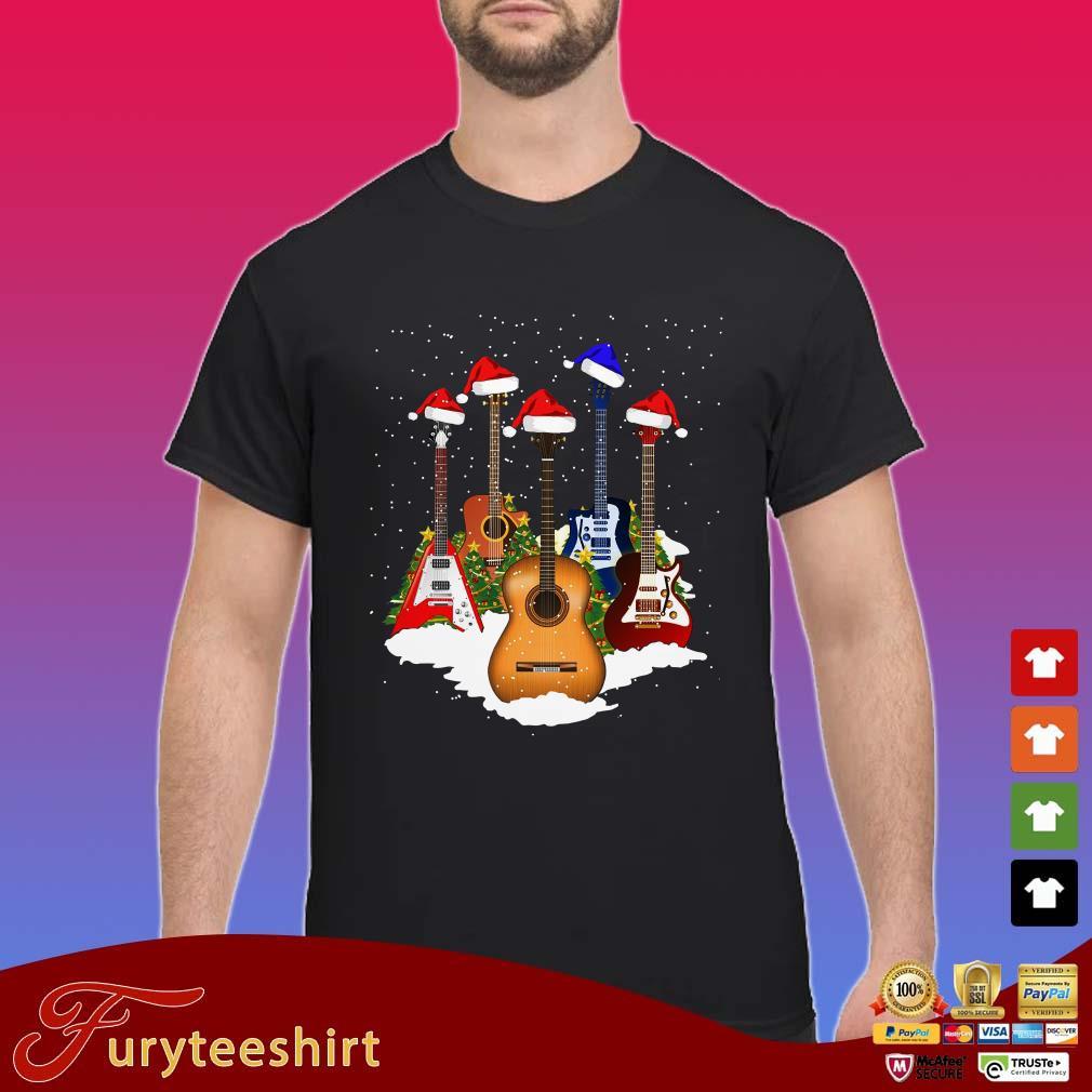 Christmas Shirt.Guitars Santa Christmas Shirt