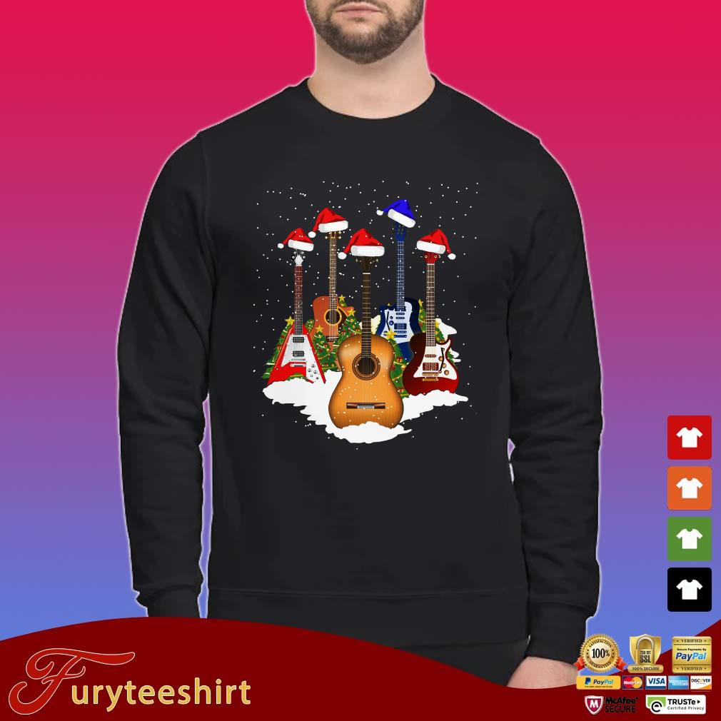 Guitars Santa Christmas Shirt