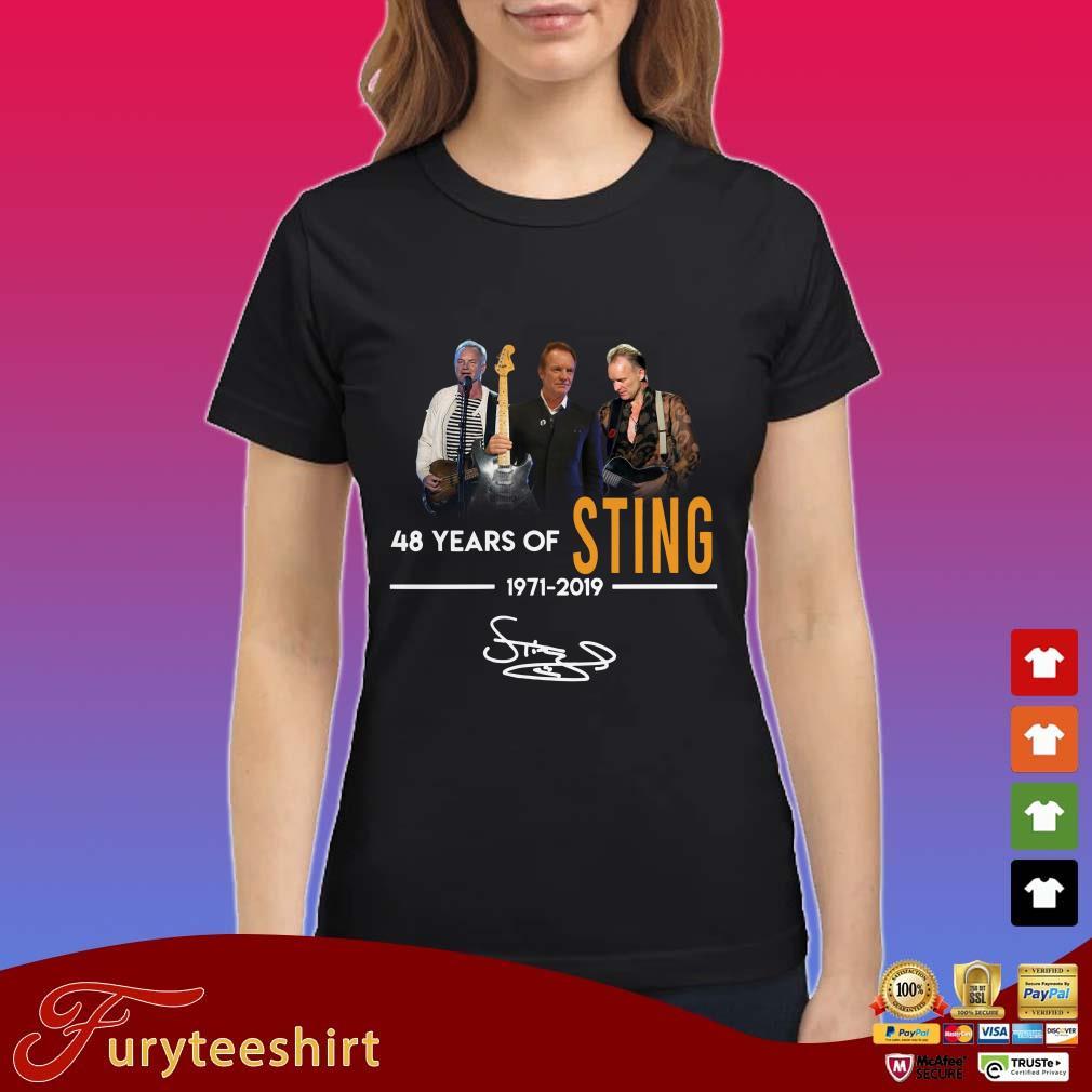 48 years of Sting 1971 2019 signature shirt