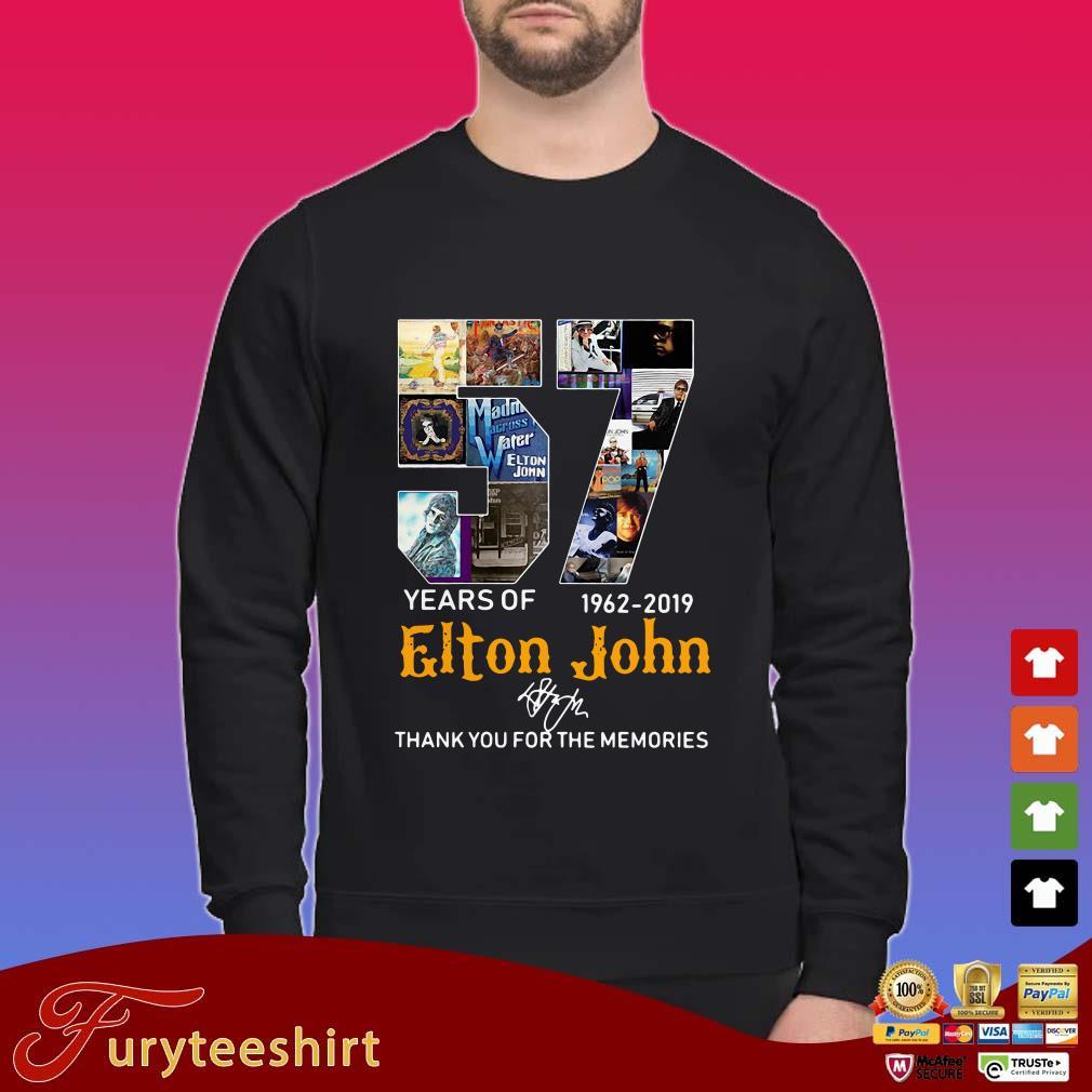 57 Years Of 1962-2019 Elton Jodhank You For The Memories Signature Shirt