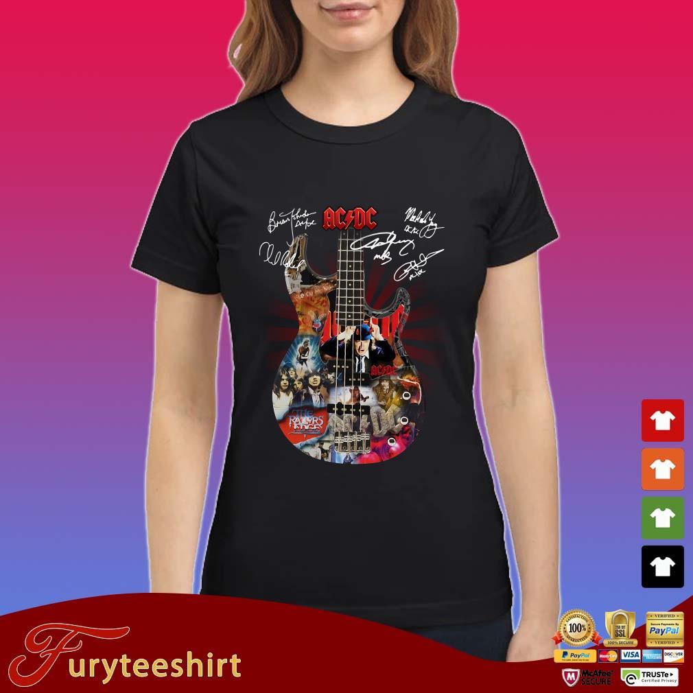 AC DC Guitar Signatures Shirt