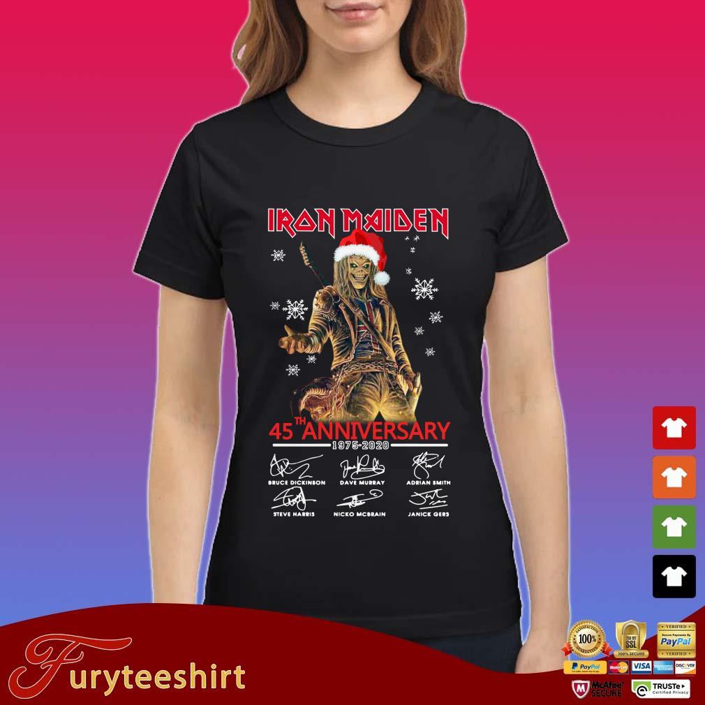 Iron Maiden Santa 45th anniversary 1975 2020 signatures Christmas Ladies