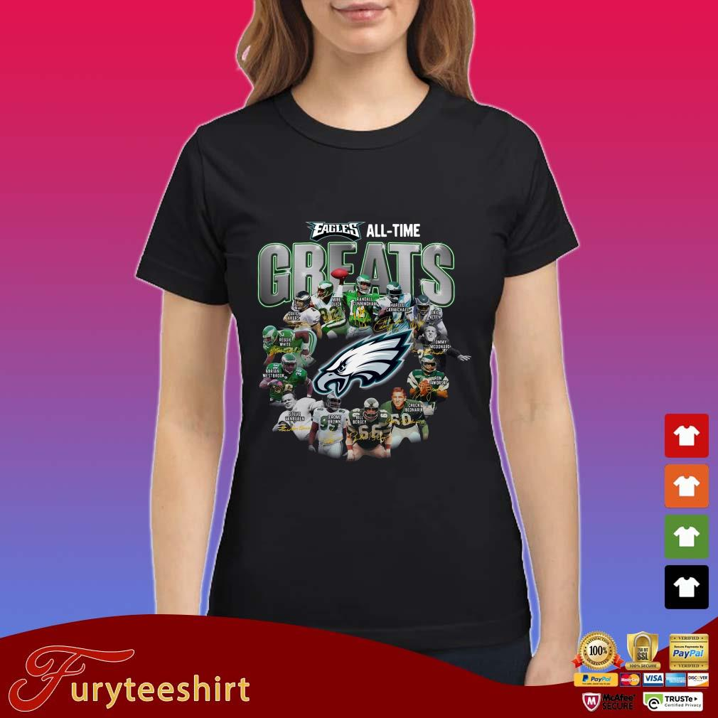Philadelphia Eagles all time greats all players signature shirt