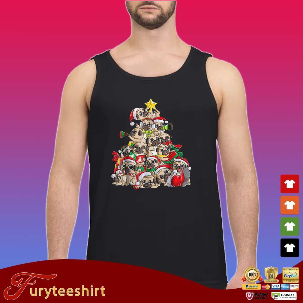 Pug Santa Christmas Pugmas Xmas Tree Shirt
