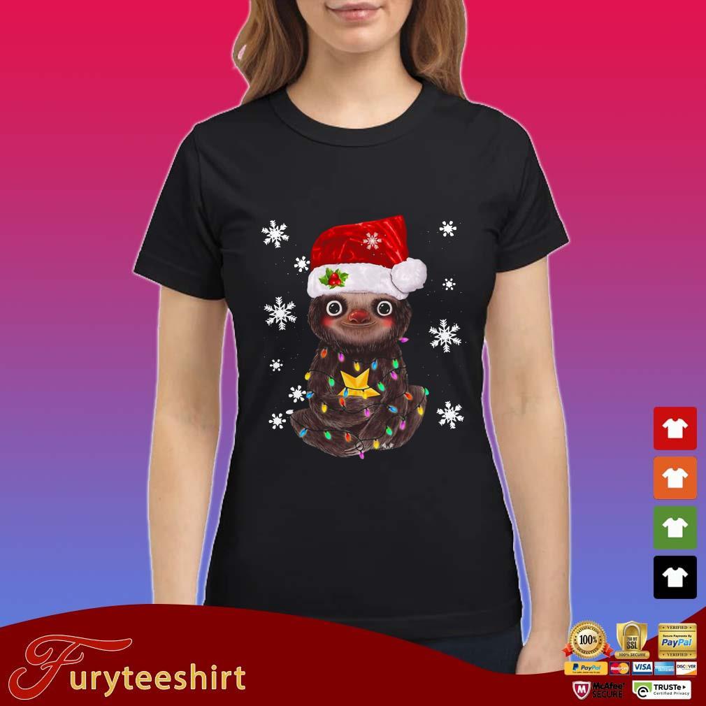 Sloth Christmas Light Shirt