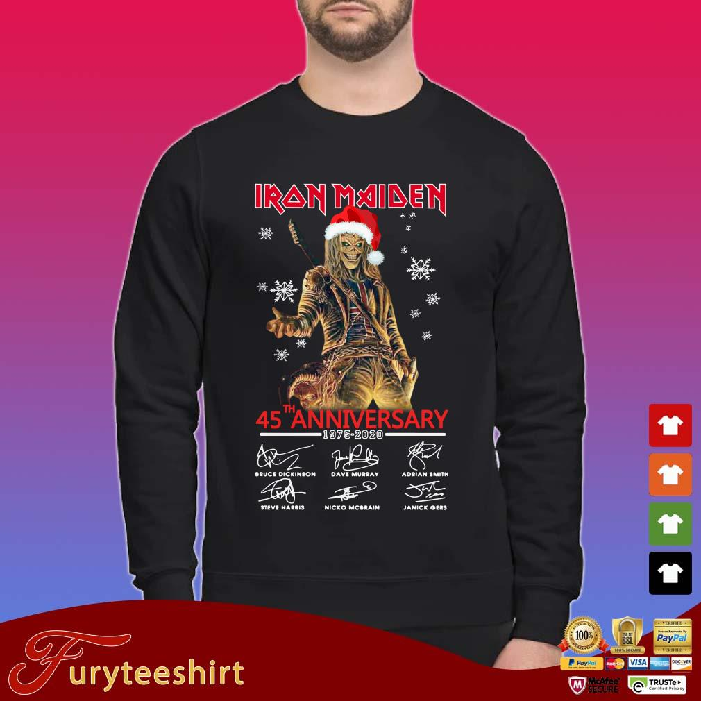 Iron Maiden Santa 45th anniversary 1975 2020 signatures Christmas Sweater