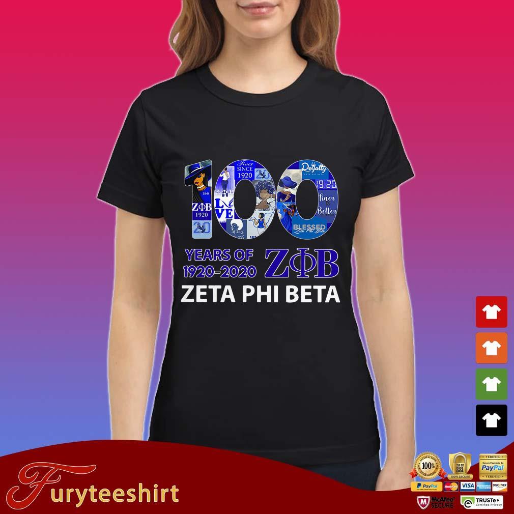 100 Years Of 1920 2020 Zeta Phi Beta Shirt