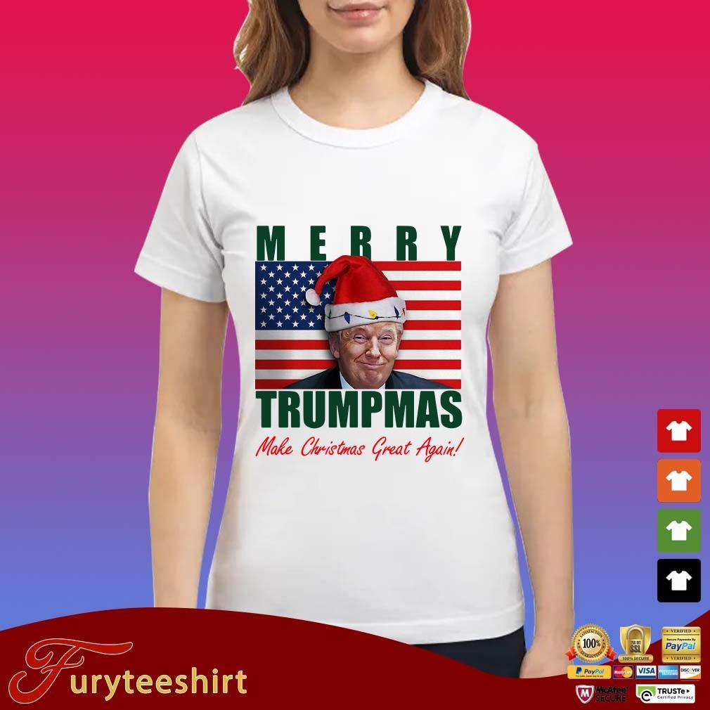 Donald Trump Merry Christmas make Christmas Great Again Flag Sweater
