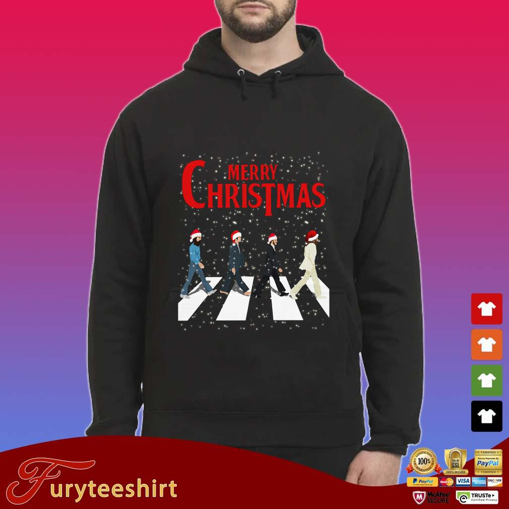 Santa The Beatles Abbey Road Merry Christmas Sweater