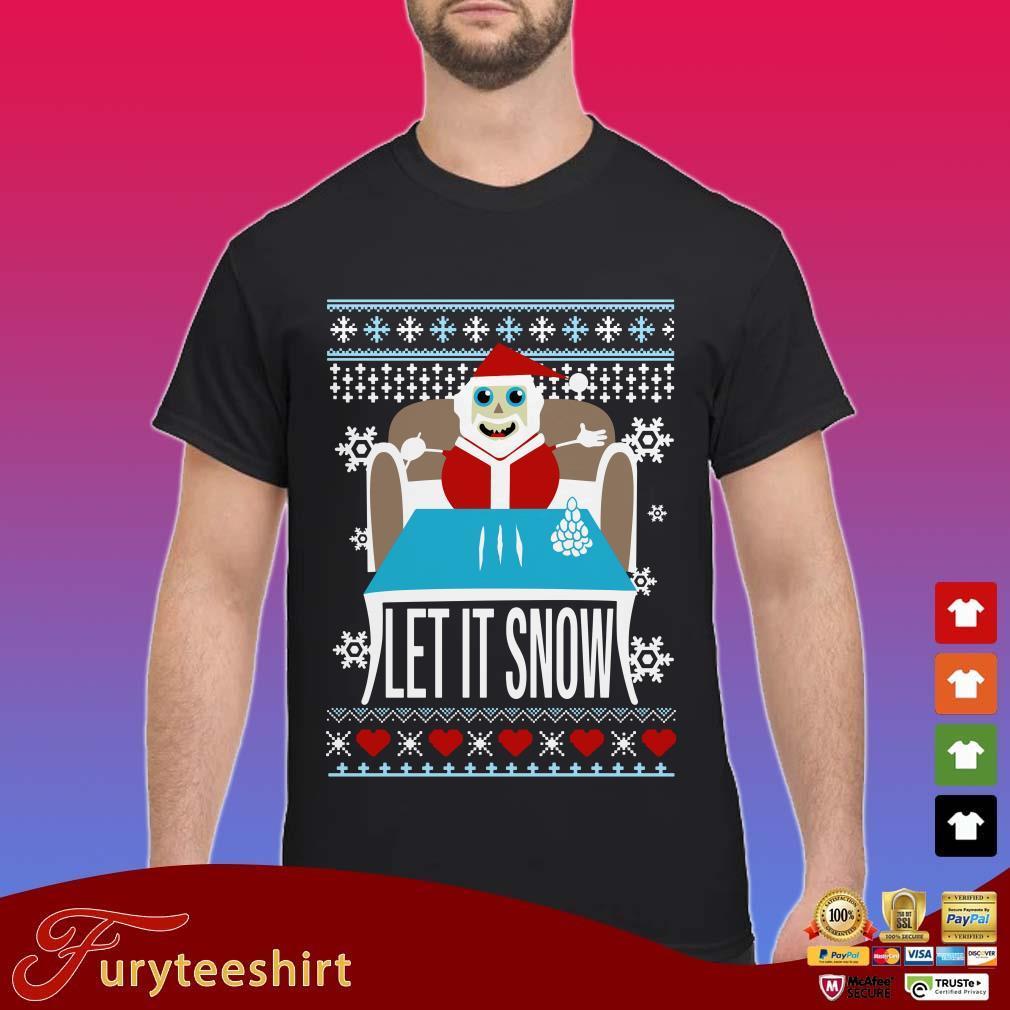 Walmart cocaine Santa let it snow ugly Christmas shirt