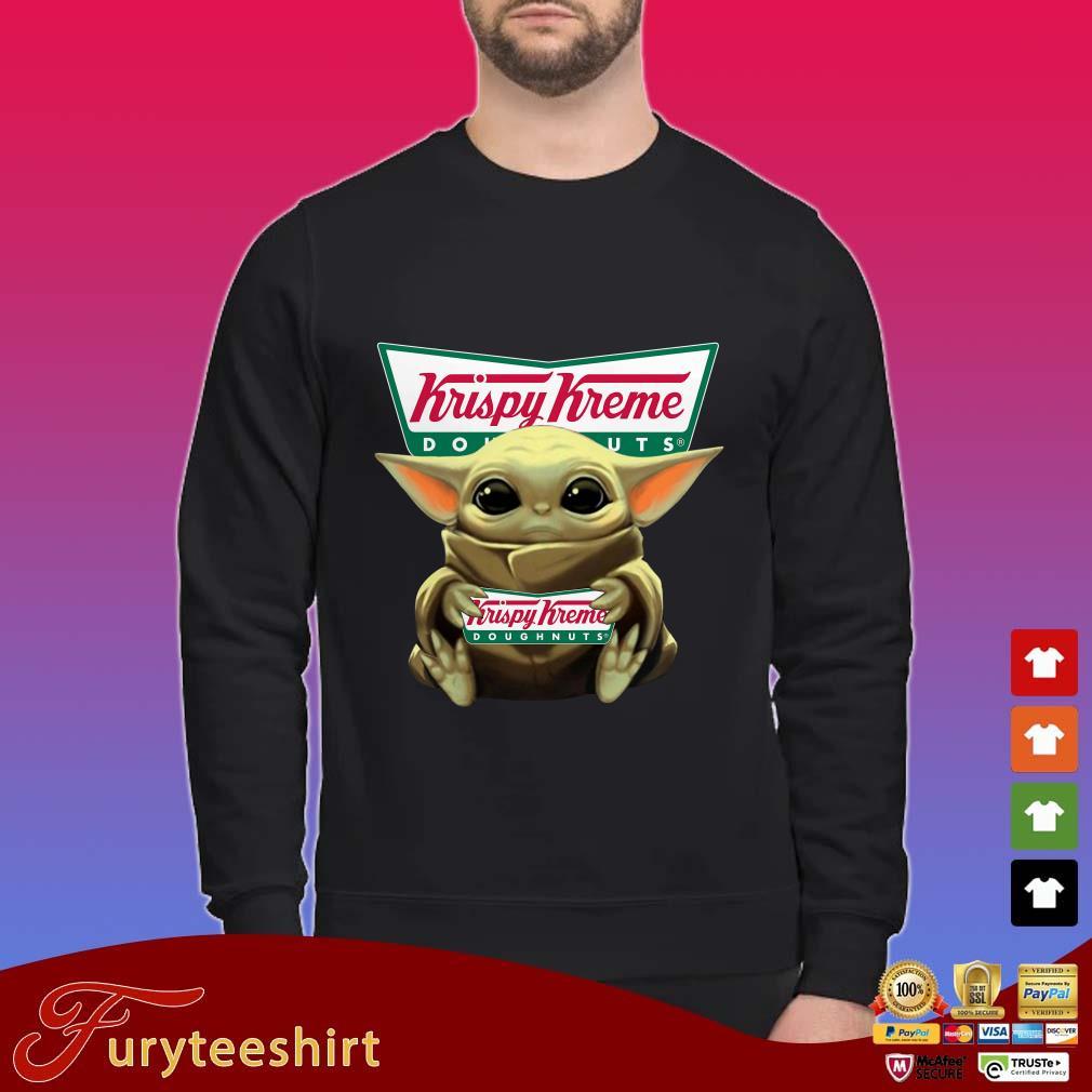 Baby Yoda Hug Krispy Kreme Doughnuts shirt
