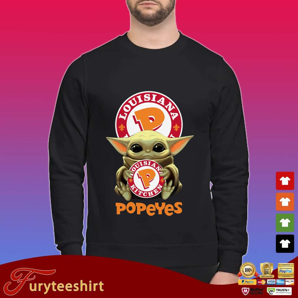 Baby Yoda Hug Louisiana Kitchen Popeyes Shirt
