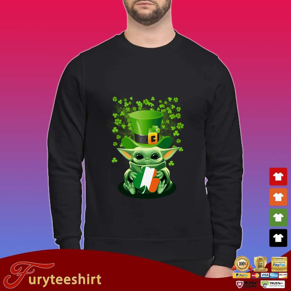 Baby Yoda Hug St Patrick Day Shirt