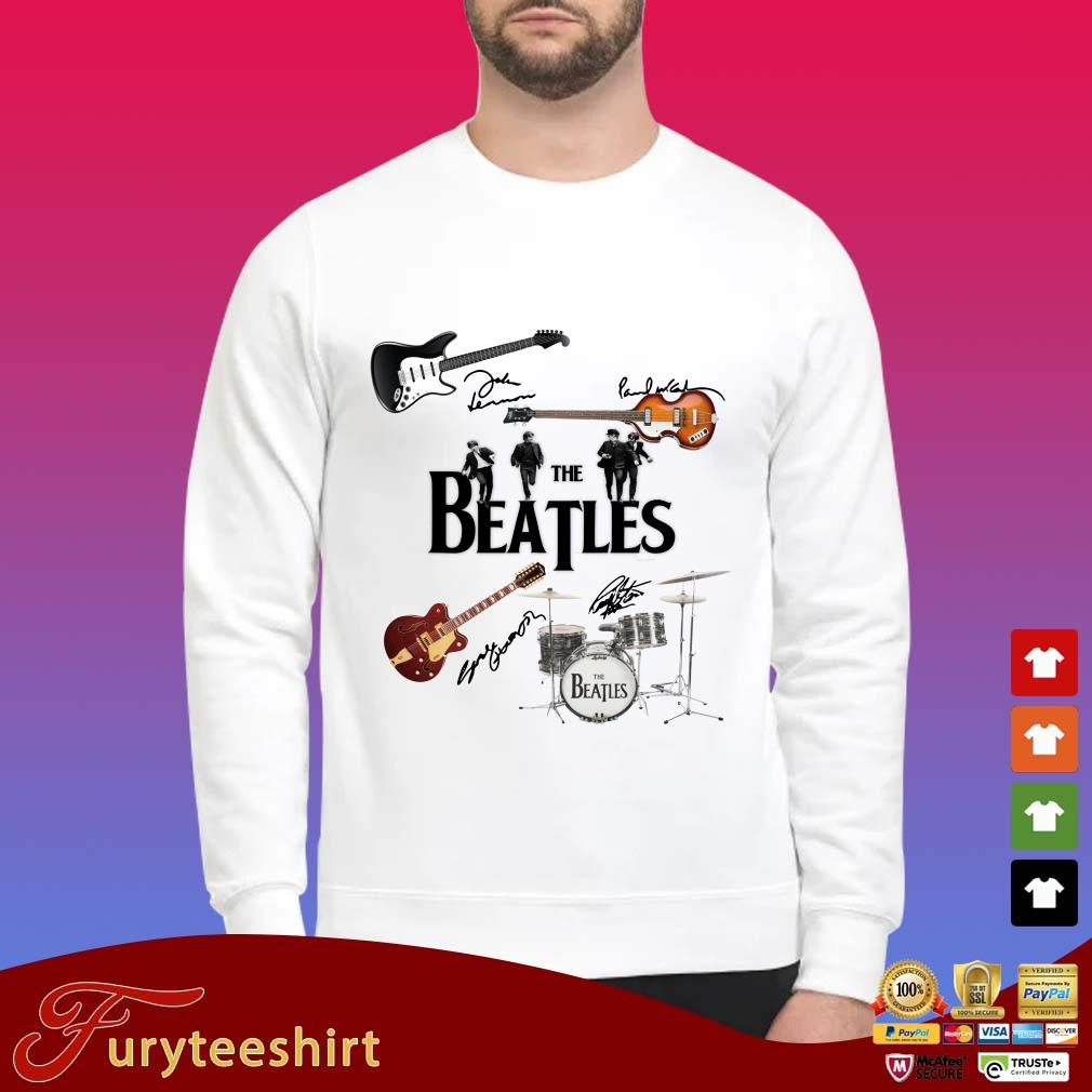 Musical Instrument The Beatles All Characters Signatures Shirt