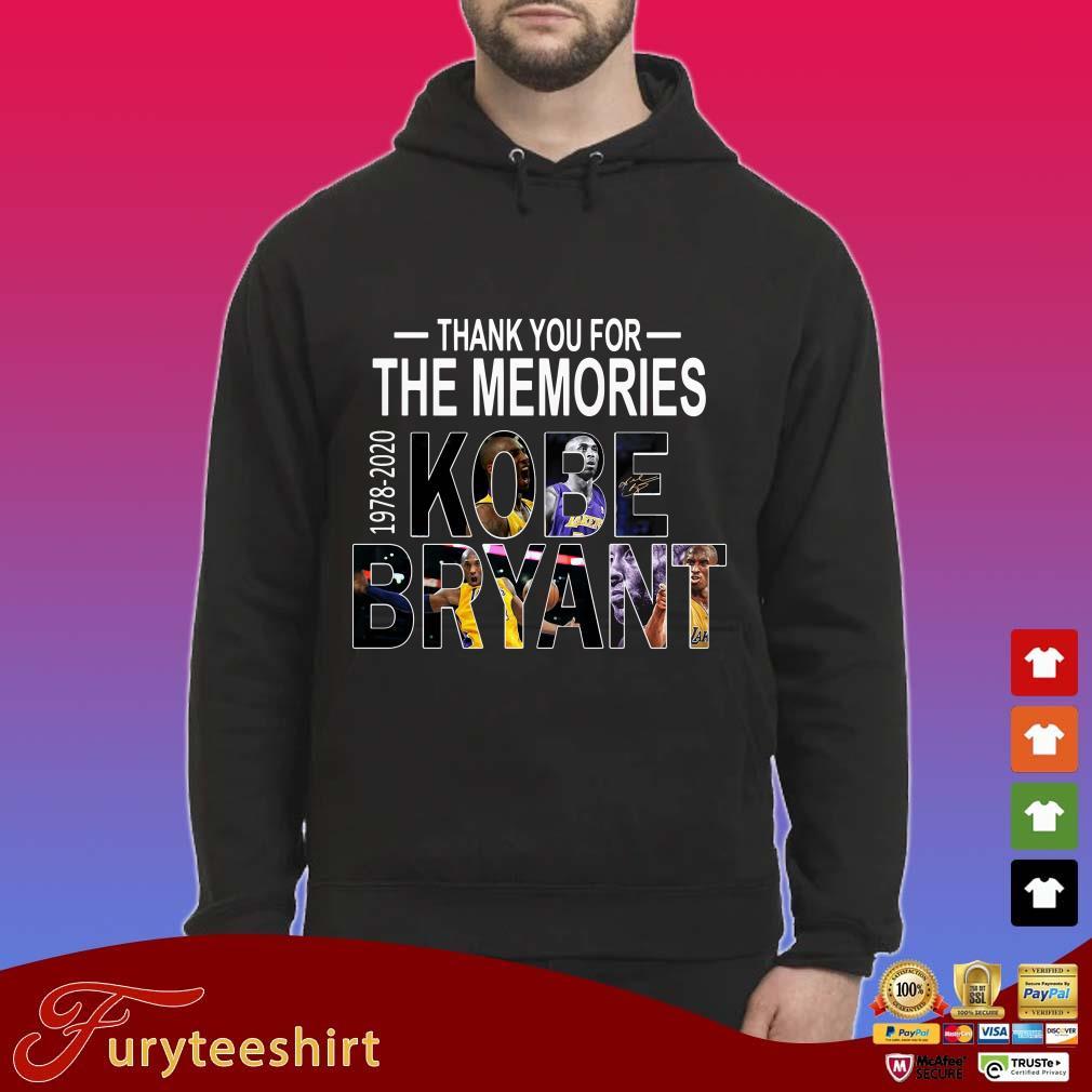Thank you for the memories Kobe Bryant 1978-2020 Shirt