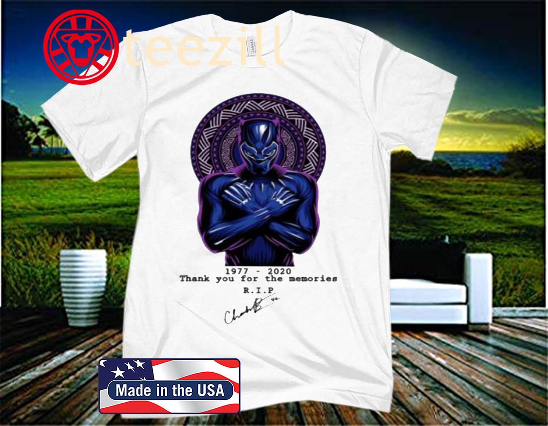 RIP Chadwick Boseman Black Panther Actor Passes At 43 Official T-Shirt