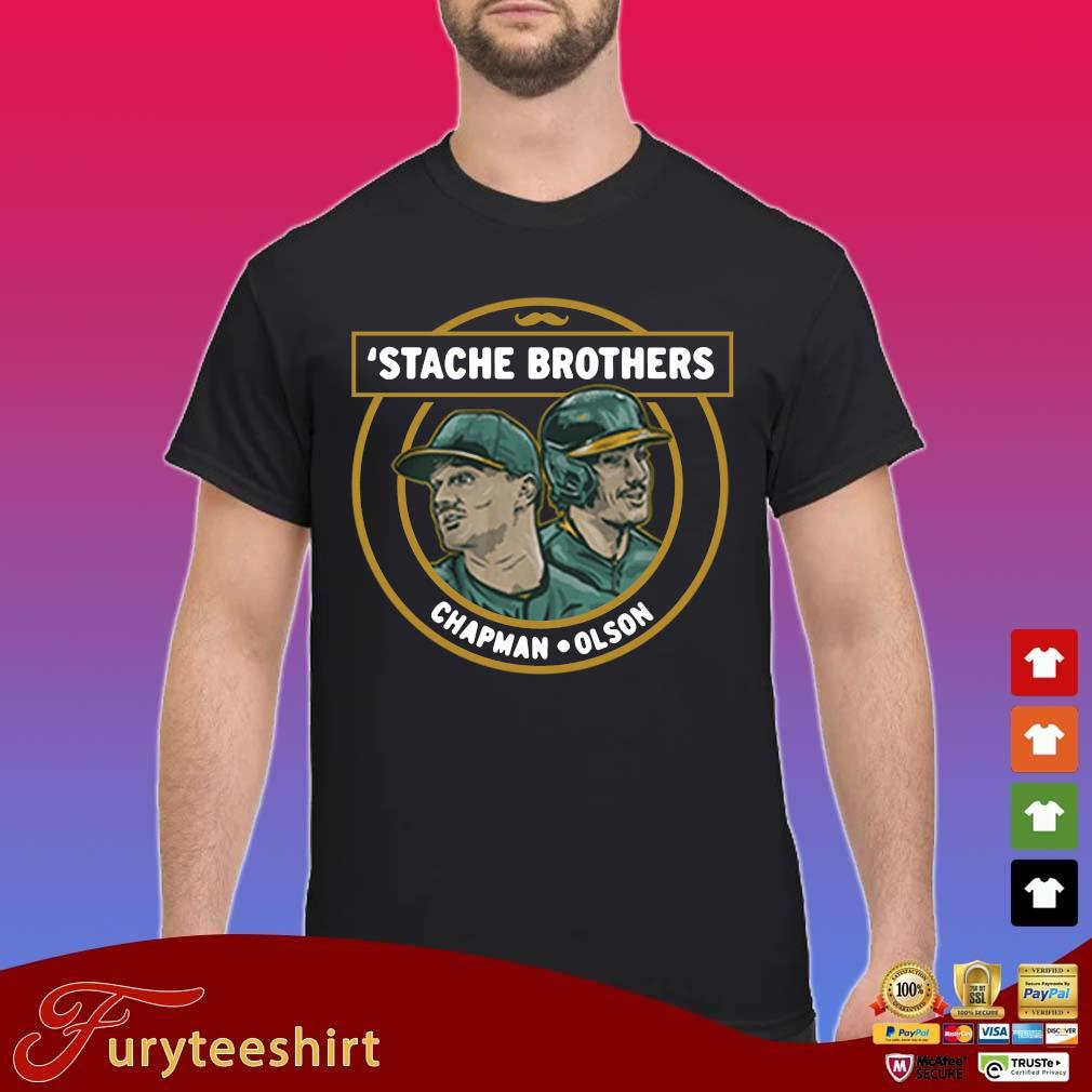 'Stache brothers Matt Chapman and Matt Olson shirt