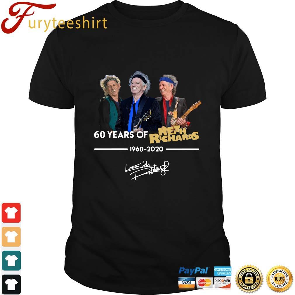 60 Years Of Keith Richards 1960 2020 Signature T-Shirt