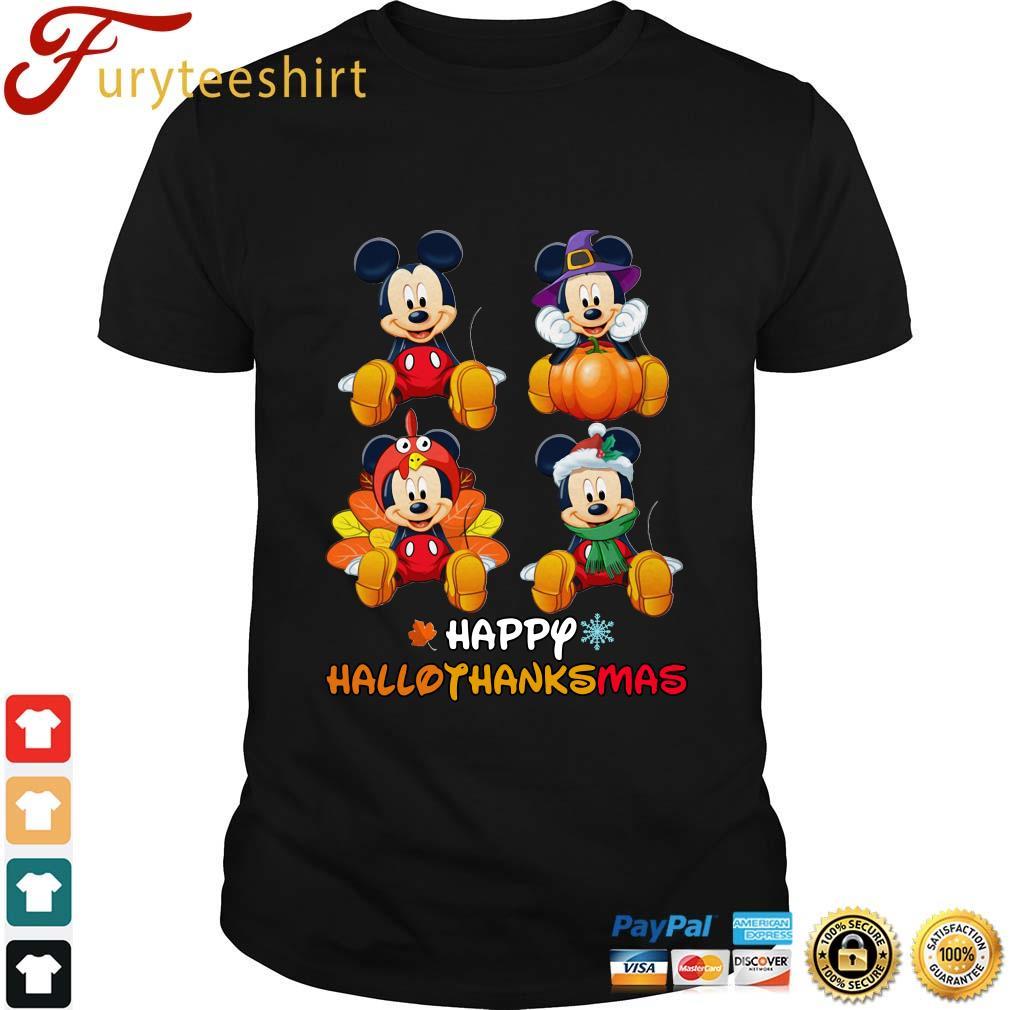 Mickey Mouse happy Hallothanksmas Halloween shirt