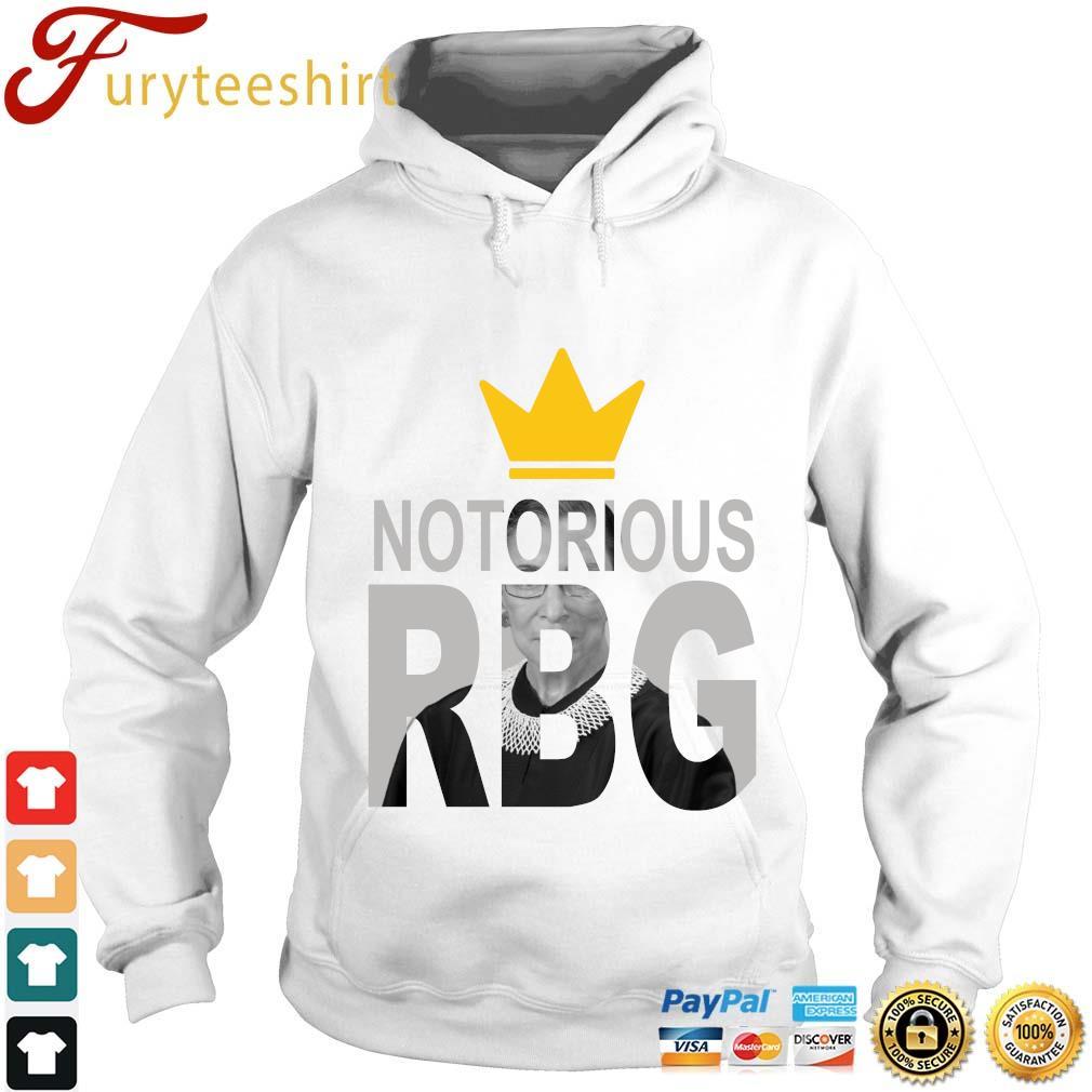 Ruth Bader Ginsburg crown notorious RBG rip s Hoodie trang