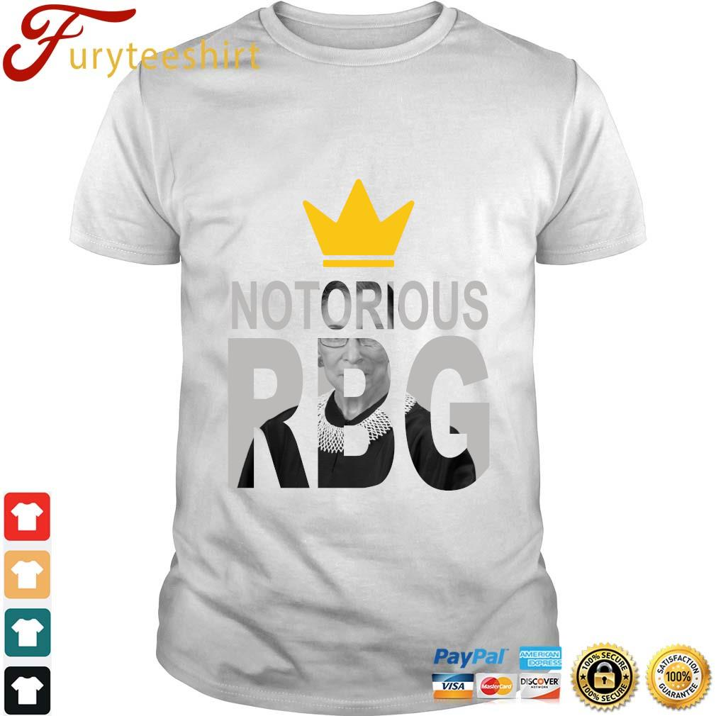 Ruth Bader Ginsburg crown notorious RBG rip shirt