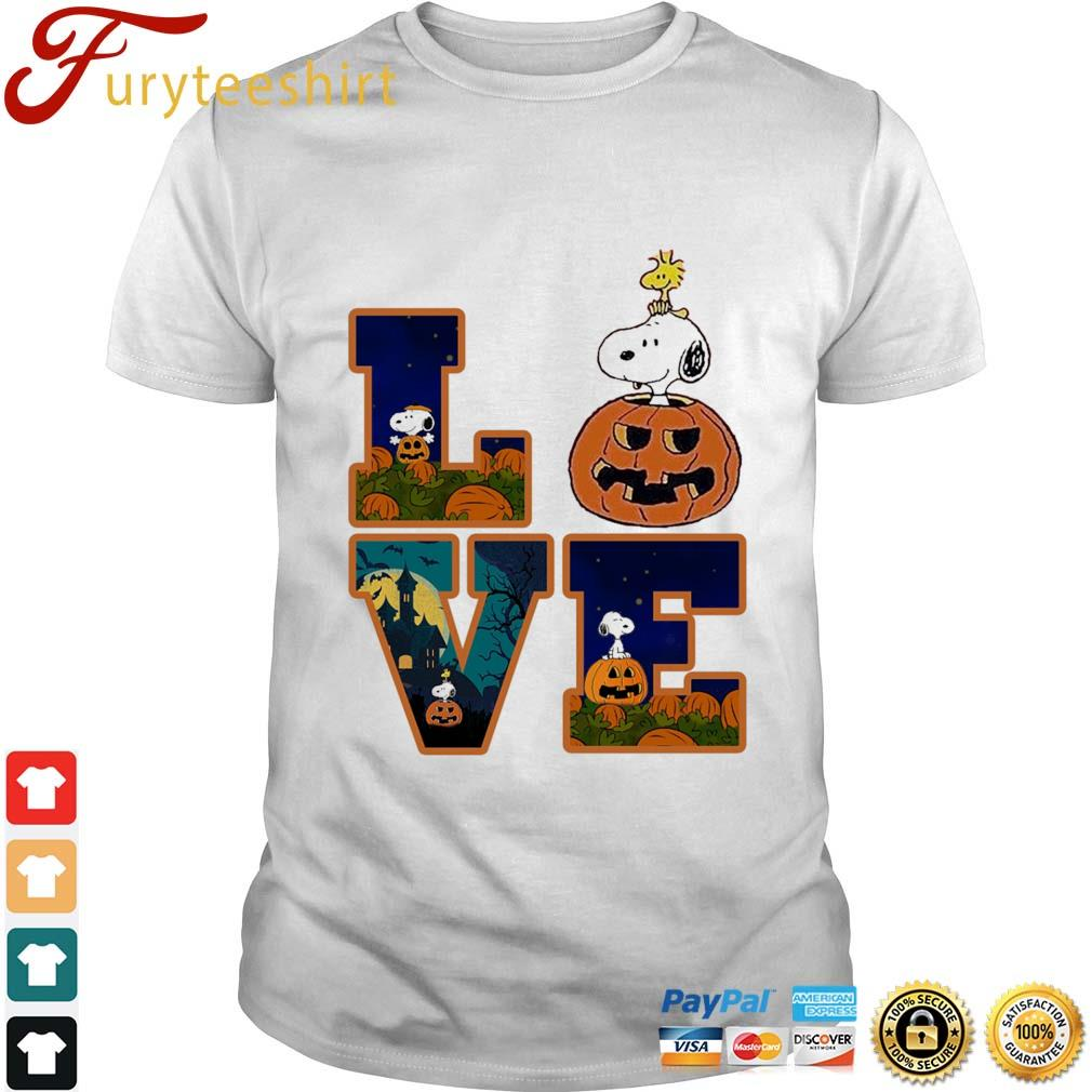Snoopy and Woodstock love Halloween shirt