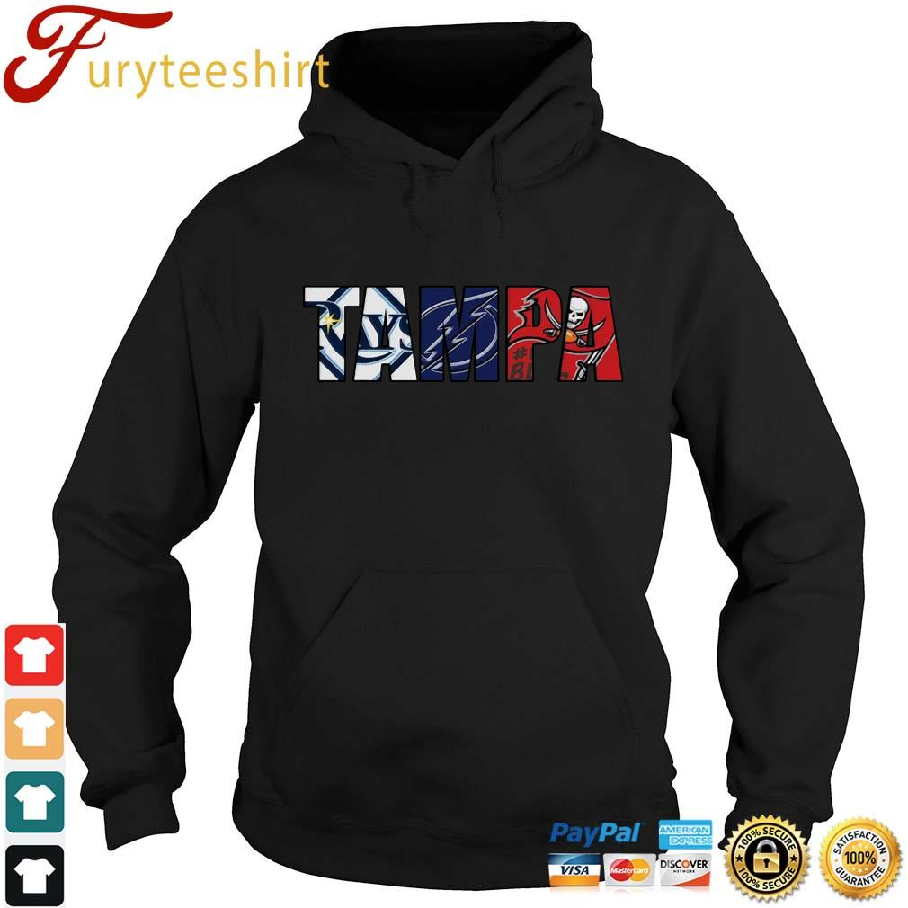 TAMPA sports team Tampa Bay Rays Tampa Bay Lightning Tampa Bay Buccaneers shirts Hoodie den