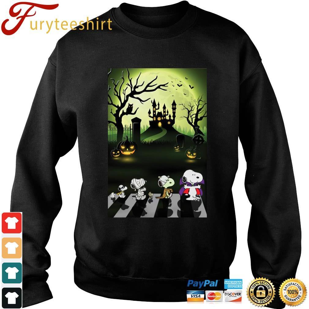 The Peanuts Snoopy abbey road Halloween moon s Sweater den
