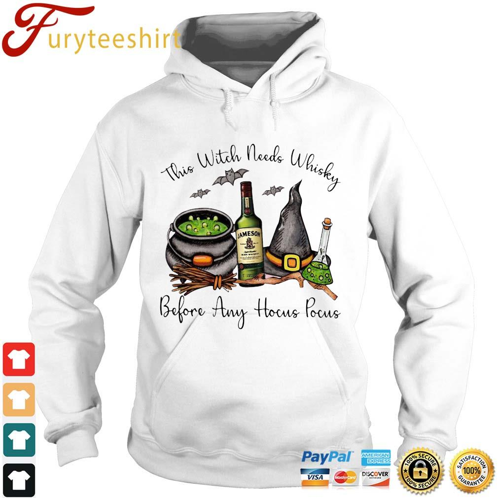 This Witch needs Whiskey Jameson before any Hocus Pocus t-s Hoodie trang