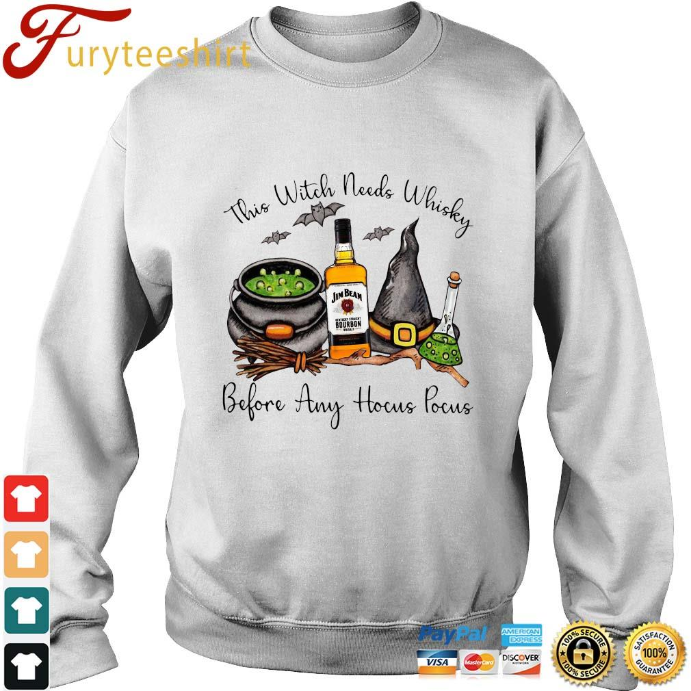 This Witch needs Whiskey Jim Beam before any Hocus Pocus s sweater trang