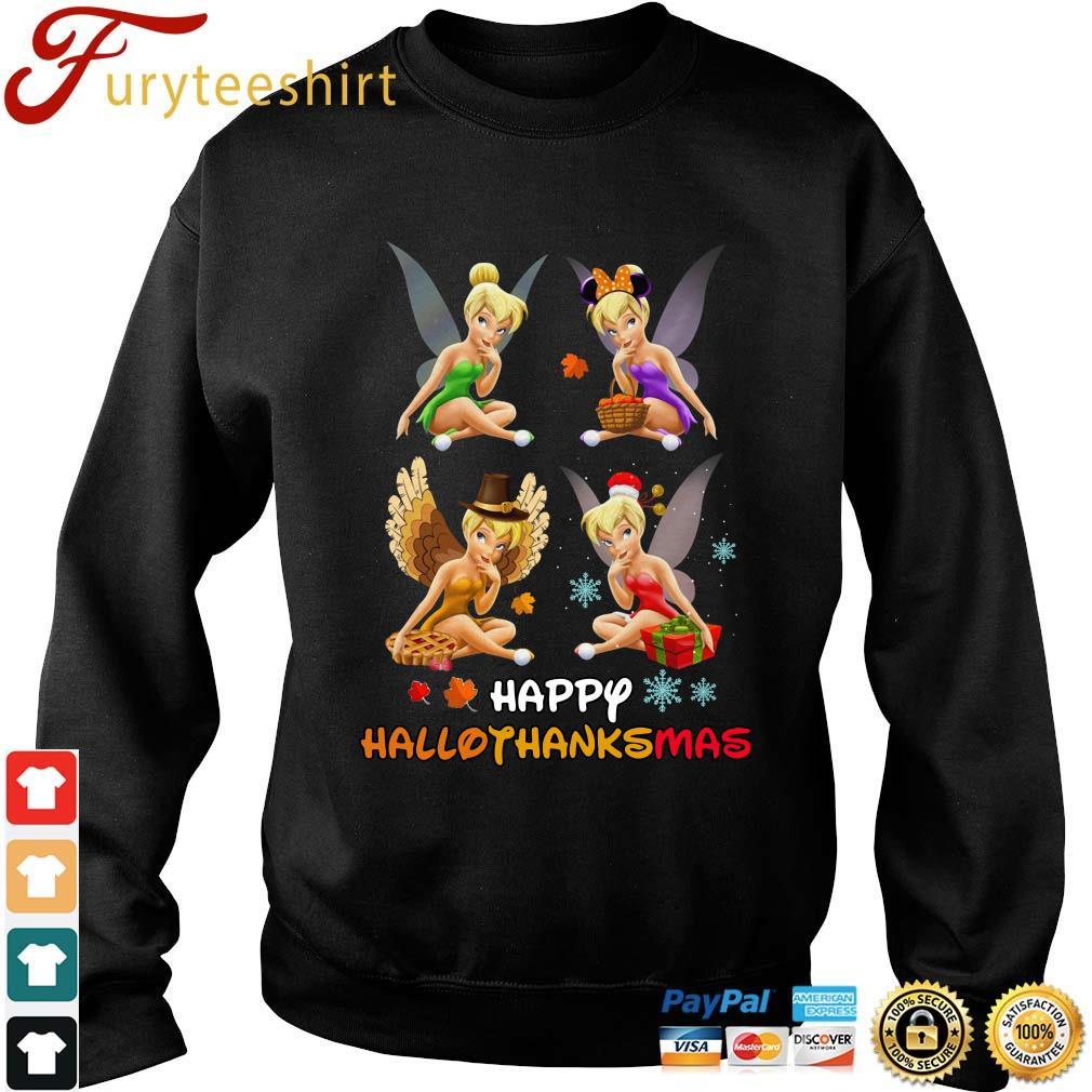 Tinkerbell Happy Hallothanksmas Halloween s Sweater den