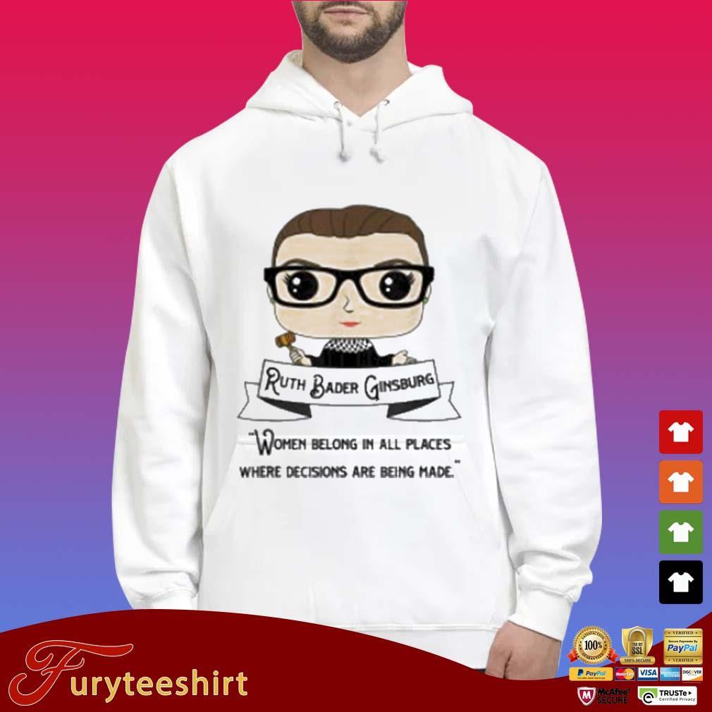 Cute RBG Ruth Bader Ginsburg Be Independent Feminist 2020 Shirt Hoodie trắng