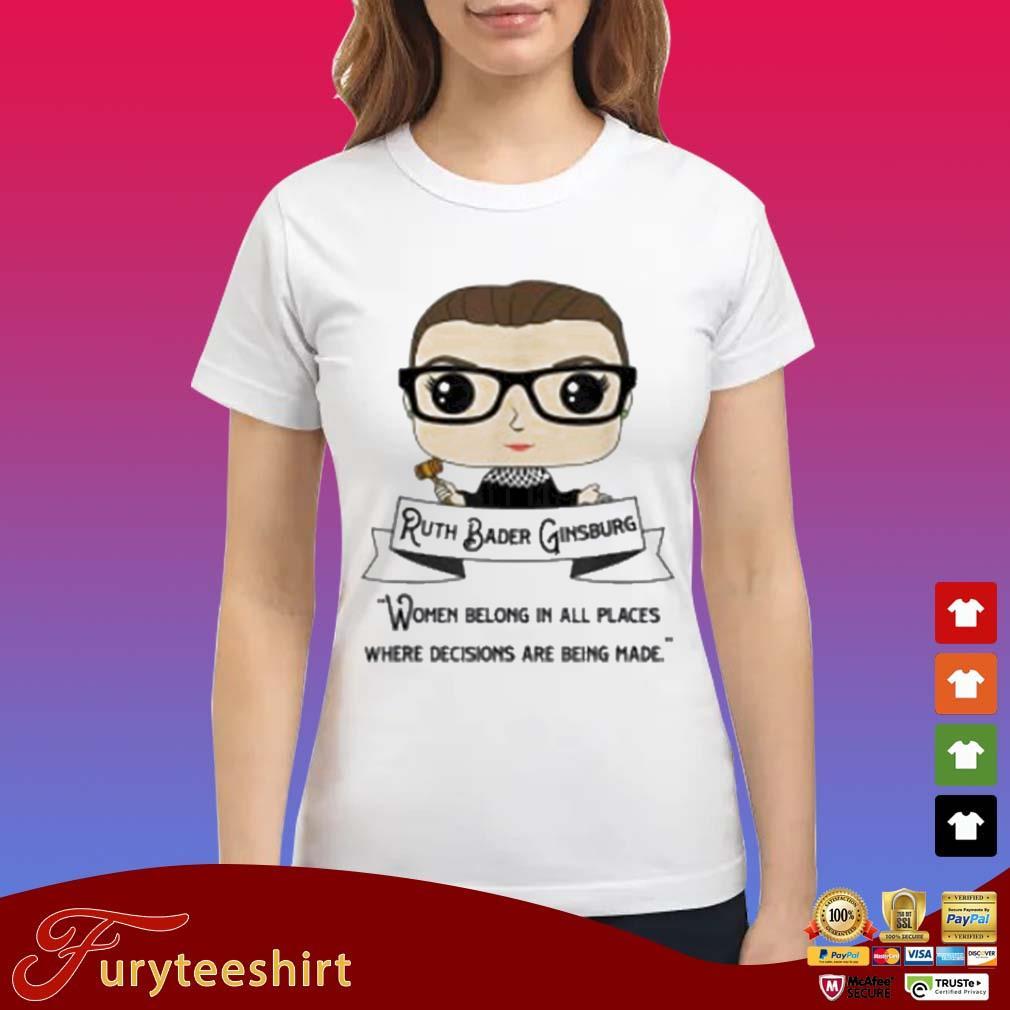Cute RBG Ruth Bader Ginsburg Be Independent Feminist 2020 Shirt Ladies trang