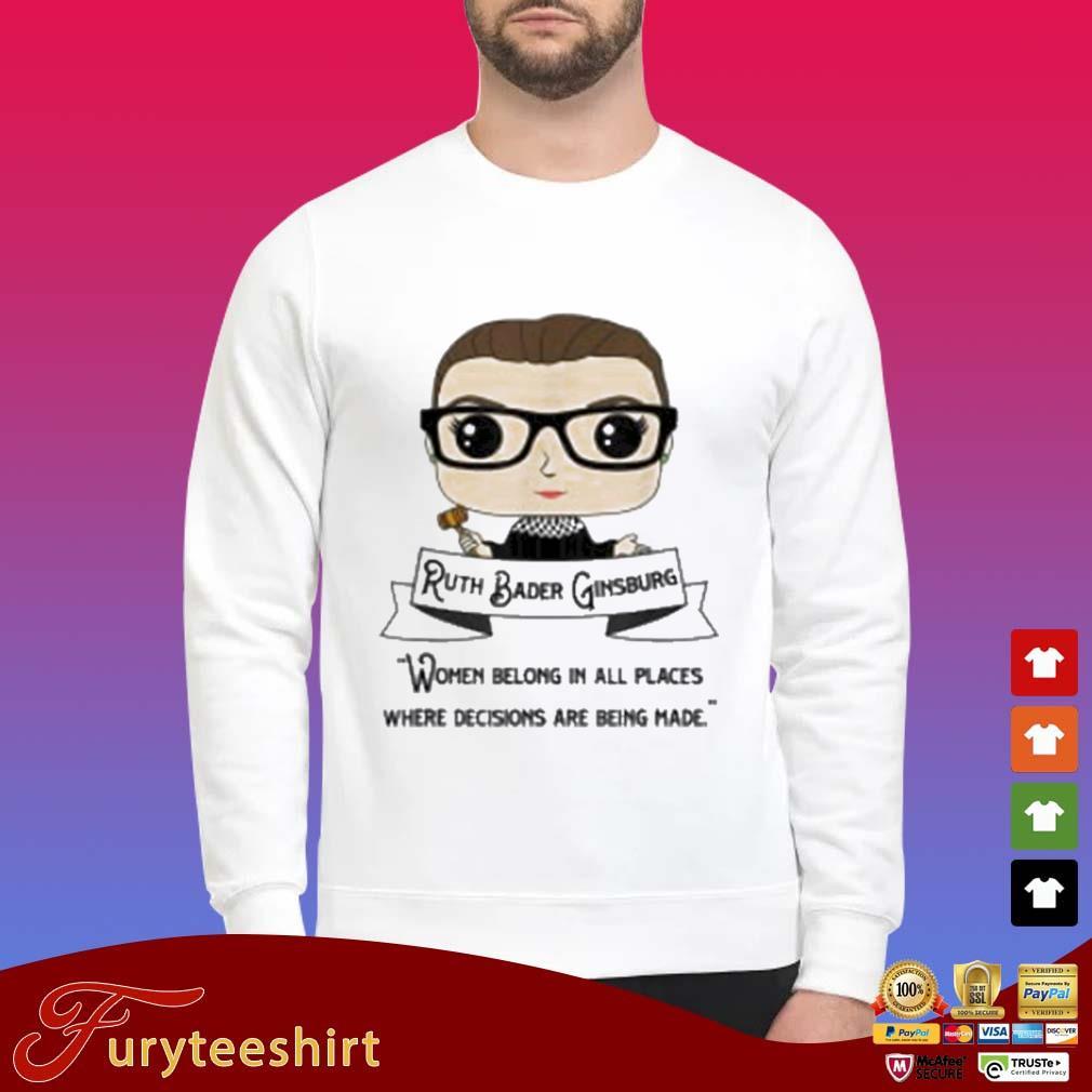Cute RBG Ruth Bader Ginsburg Be Independent Feminist 2020 Shirt Sweater trang