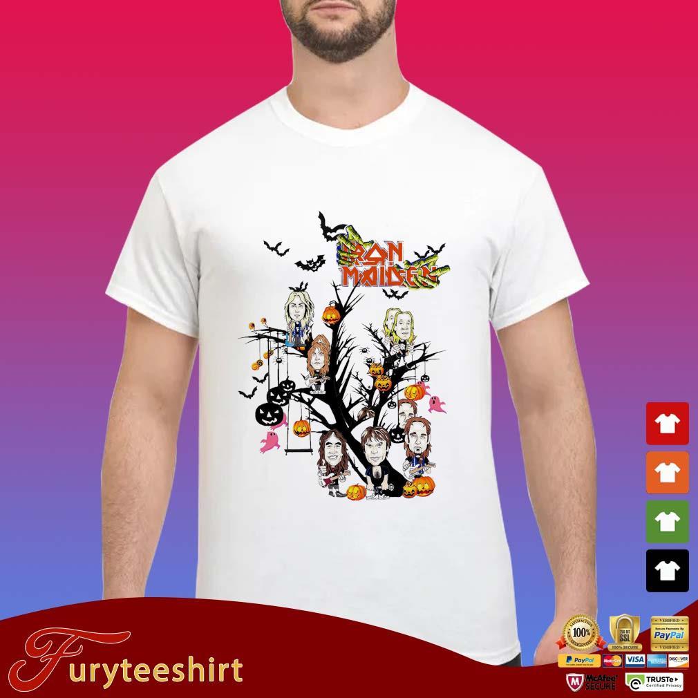 Iron Maiden chibi on tree Halloween shirt