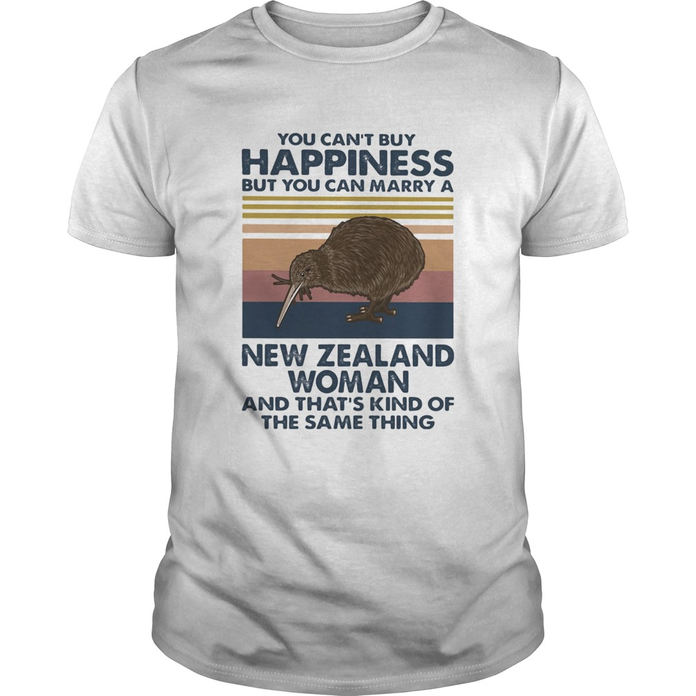 Kiwi Bird You Cant Buy Happiness But You Can Marry A New Zealand Woman Vintage Retro  Unisex