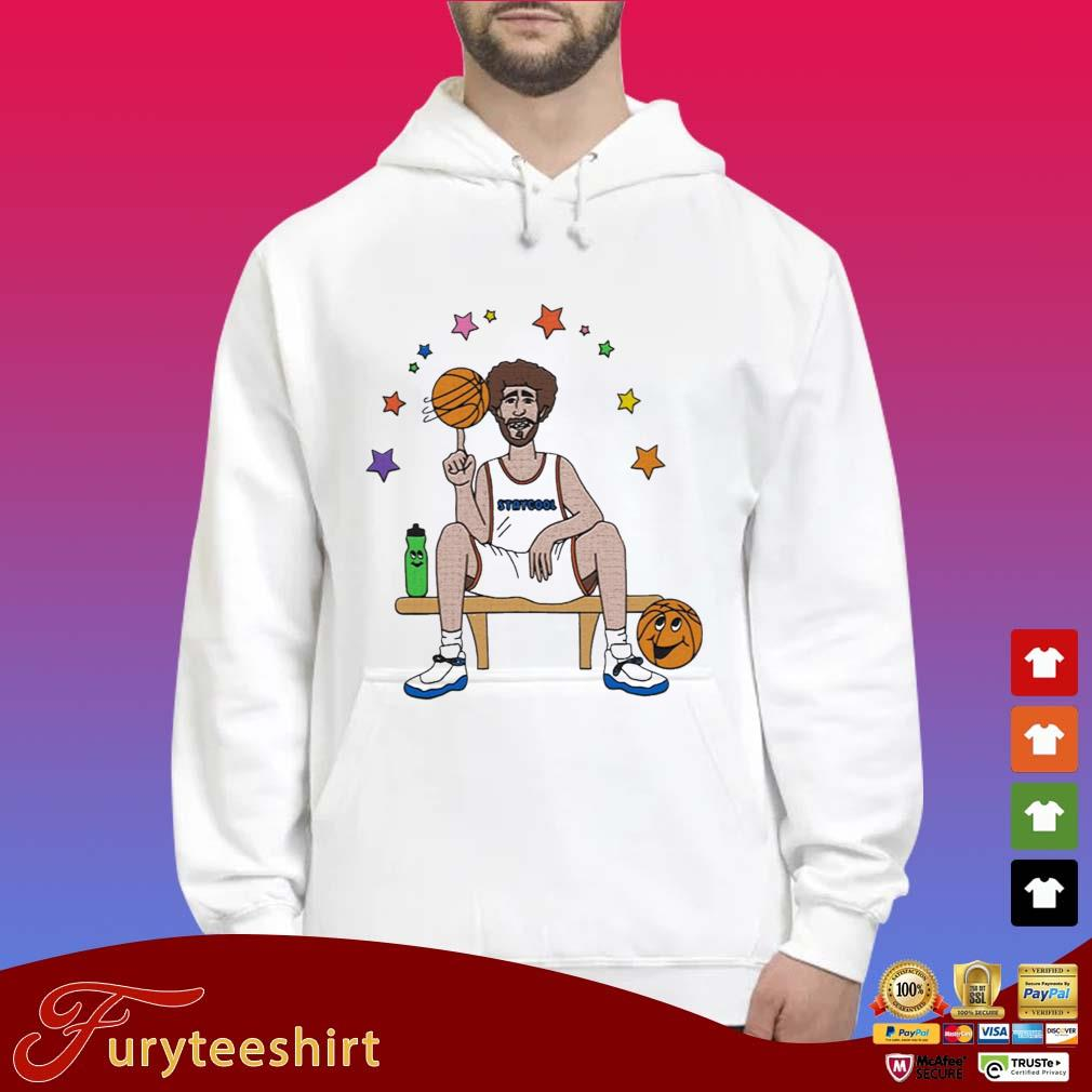 Lil Dicky X Staycool Courtside Shirt Hoodie trắng