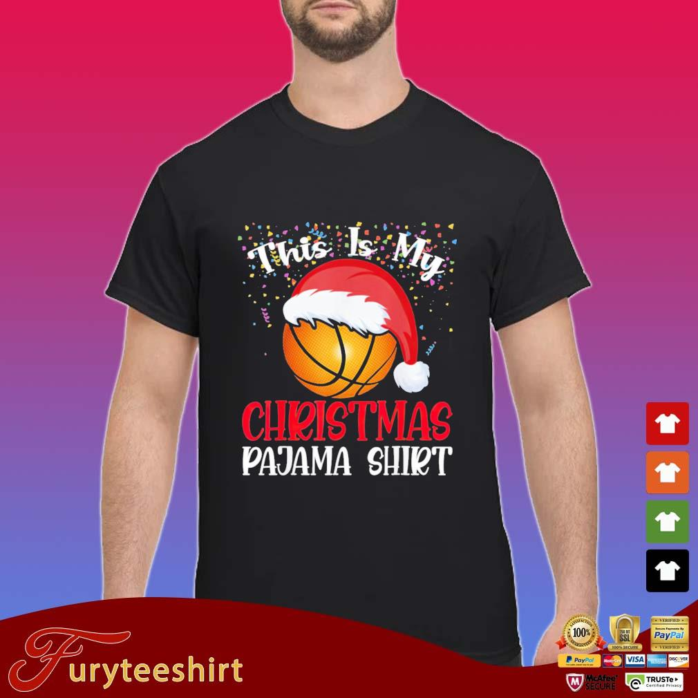 Santa Basketball this is my Christmas Pajama shirt sweater