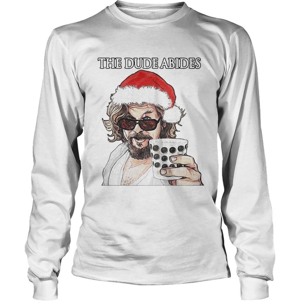 The Big Lebowski The Dude Abides Ugly Christmas  Long Sleeve