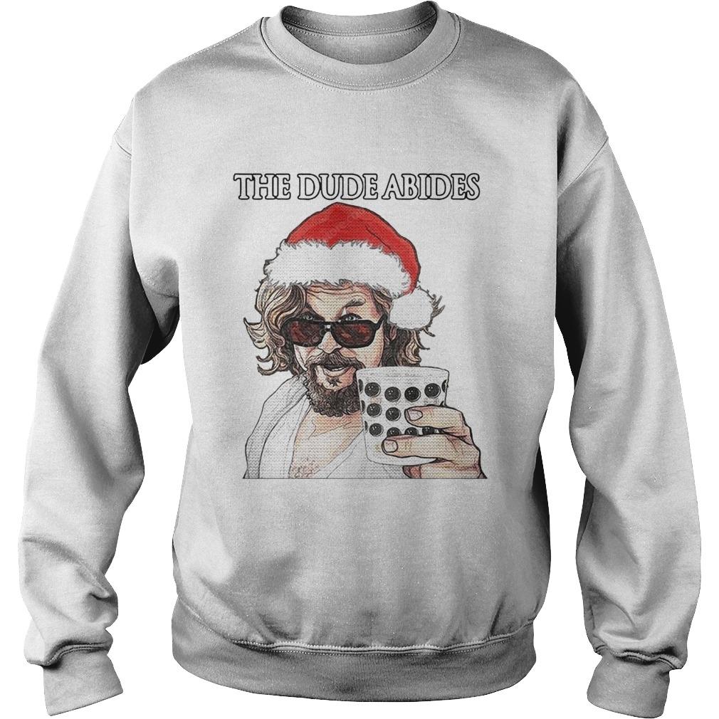 The Big Lebowski The Dude Abides Ugly Christmas  Sweatshirt