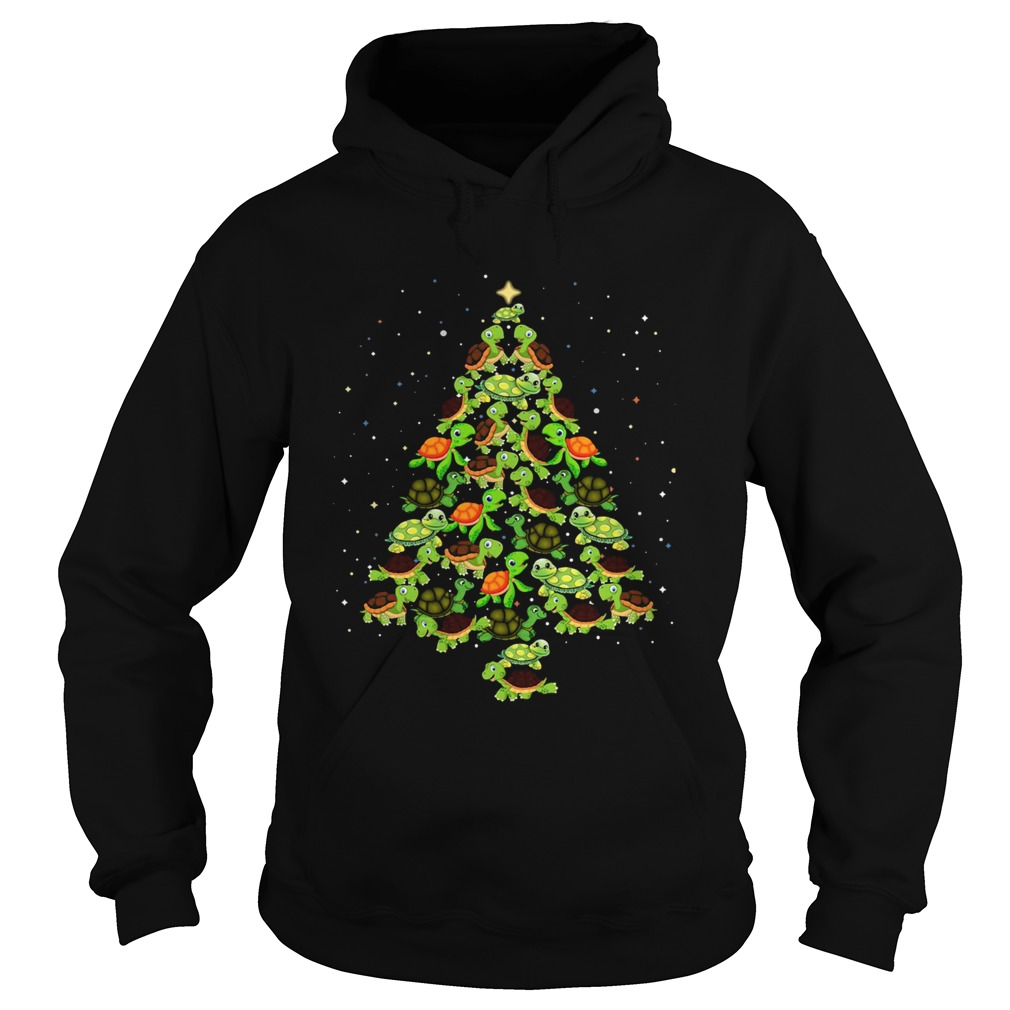 Turtles Tree Christmas  Hoodie