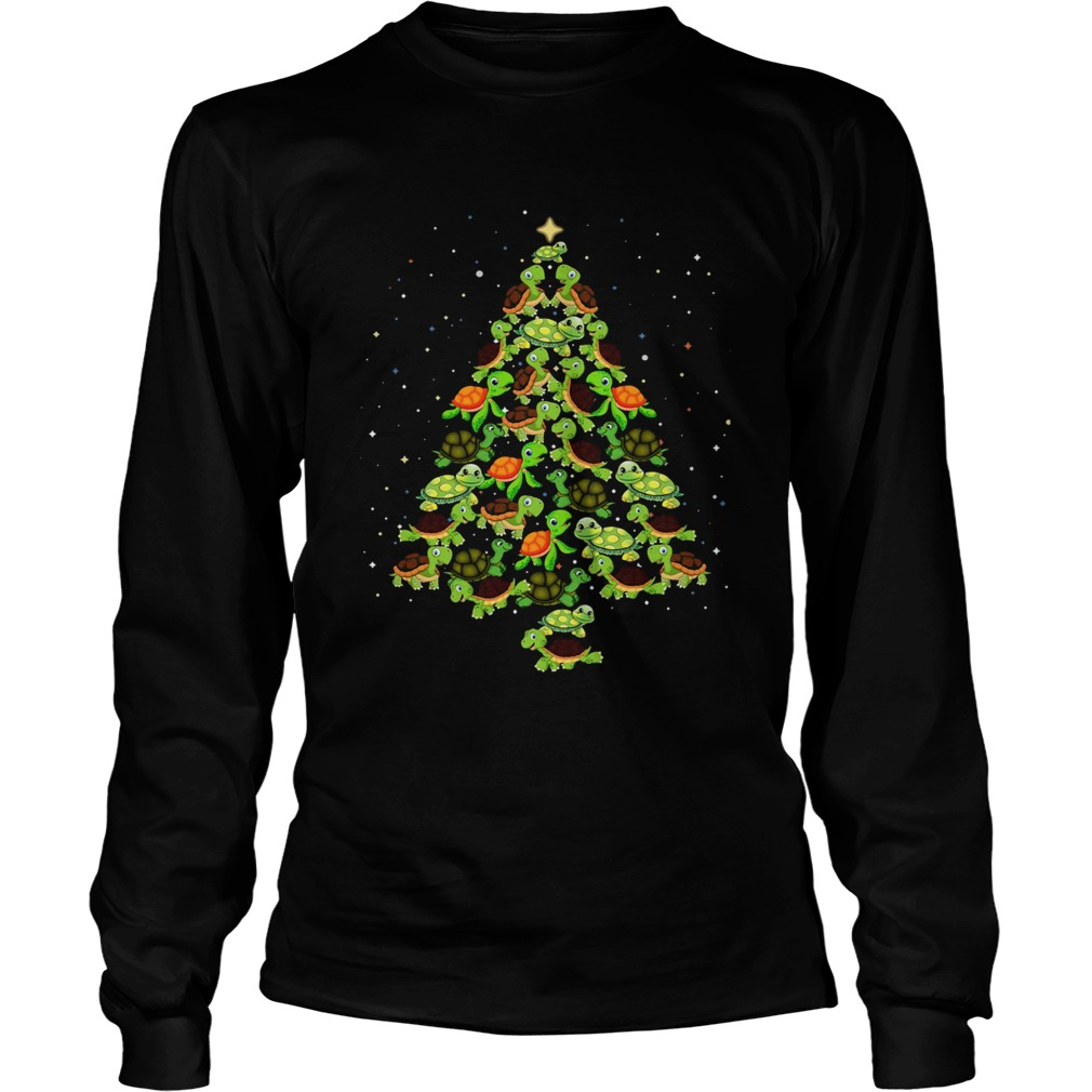 Turtles Tree Christmas  Long Sleeve